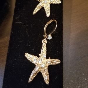 New flower choker and Starfish earrings